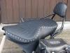 Motorradsitzbank mit Seitentaschen und Lehne