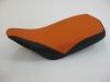 Motorradsitzbank orange schwarz